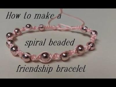 How to Make a Spiral Beaded Friendship Bracelet