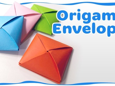 How to make an origami envelope - Ideas for gift