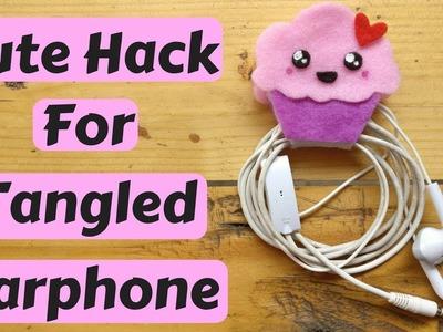 How to make cupcake Earphone Holder|| DIY|| Cute cupcake no sew felt earphone holder
