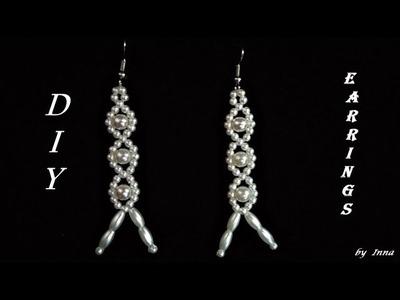 How to make pearl earrings.  Easy tutorial