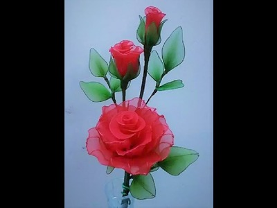 How to make Red Roses with Nylon stockings.