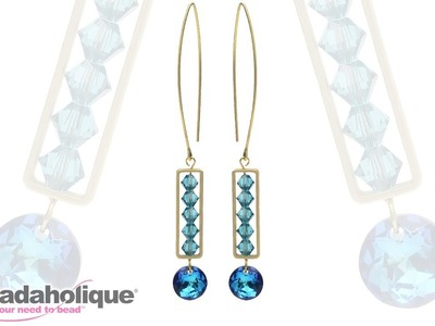 How to Use Bead Frames to Make the Pompidou Earrings