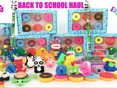 Huge Back to School Erasers Pencil Collection Rubber Ice Cream Fast Food Cactus Monster