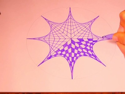 Learn To Paint Octagon Geometric Art | Spirograph Pattern Tutorial