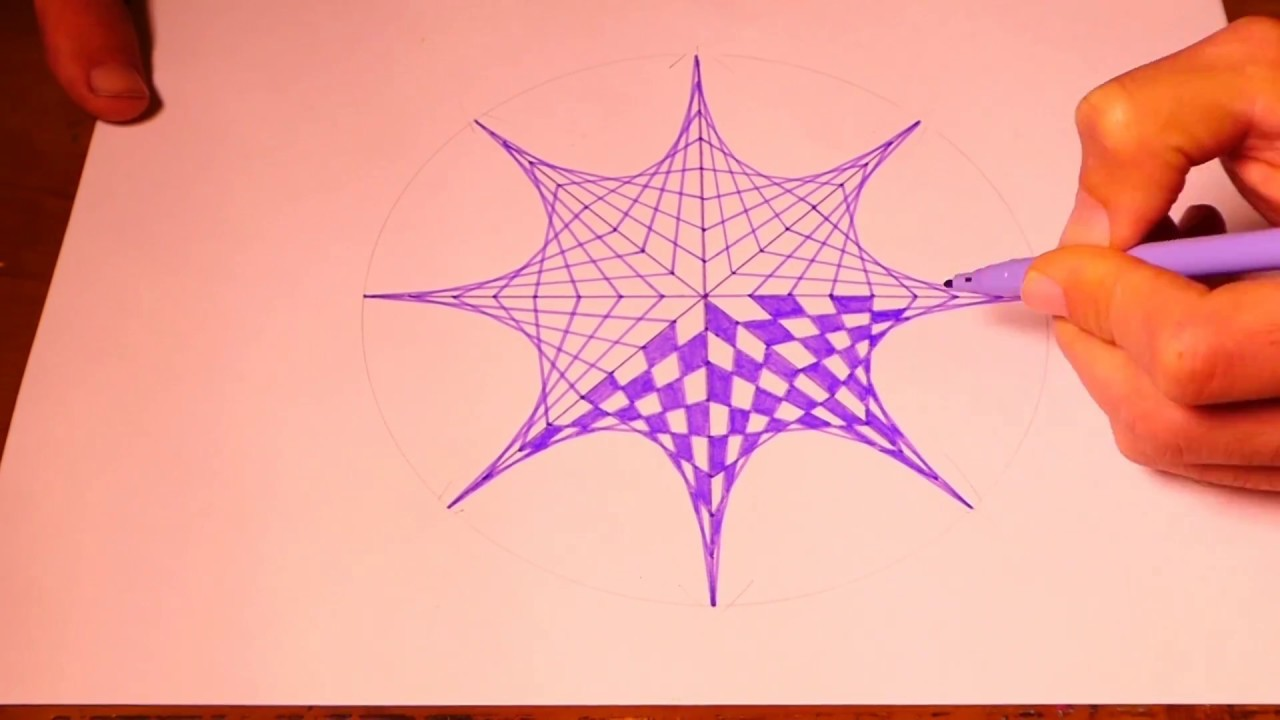 Learn To Paint Octagon Geometric Art | Spirograph Pattern Tutorial