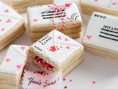 Love Letter Valentine's Day Cookies   Food Network