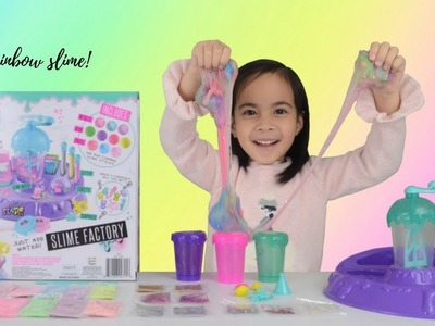 Making RAINBOW SLIME with SO SLIME DIY Slime Factory Surprise Toys
