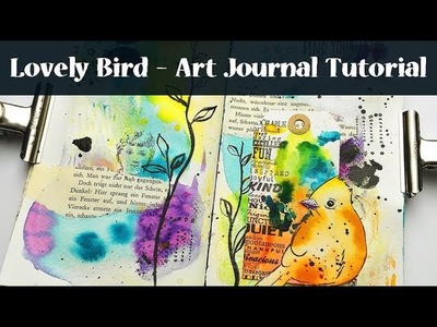 Mixed Media Thoughts #10 Art Journal with Watercolor