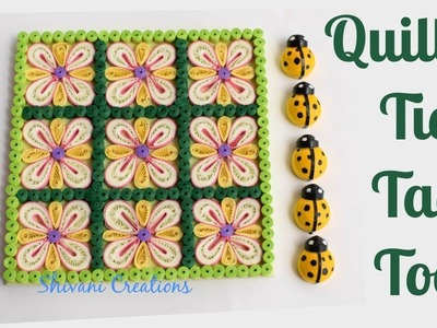 Quilled Tic Tac Toe. DIY Quilling Game. Quilling Lady bugs