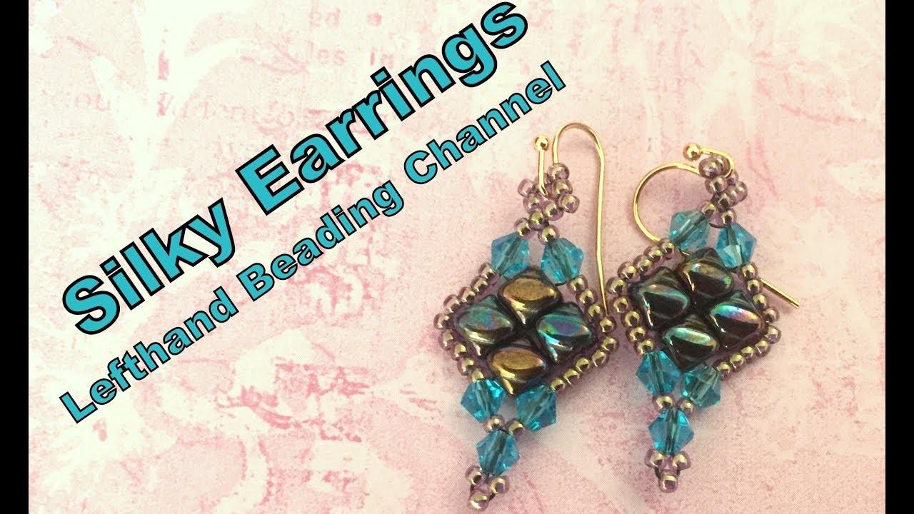 Silky Earrings--Bead tutorial using silky beads