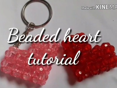 Simple and easy beaded heart ❤ ❤ tutorial