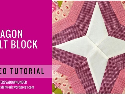 Video tutorial: Octagon quilt block - Easy foundation paper piecing block