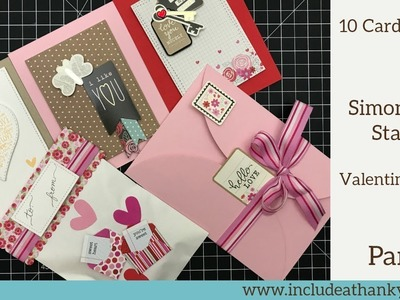 10 Cards - 1 Kit | Simon Says Stamp Limited Edition Valentine's 2018 Card Kit | Part 1