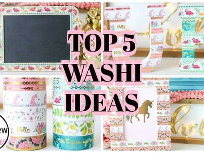 5 EASY DIY WASHI TAPE CRAFTS: What is Washi Tape used for?