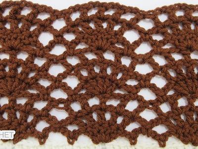 """""""A Lady's Fan"""" Crochet Stitch - Calendar Blanket - March"""