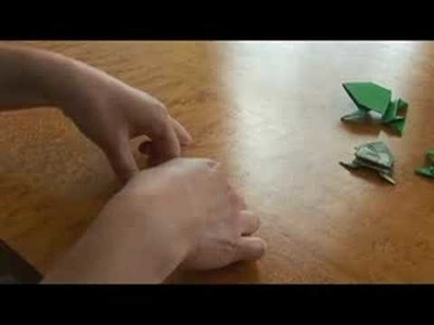 Advanced Origami Folding Instructions : Origami Jumping Frog Legs