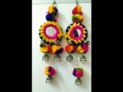 CH & HJ -  handmade pompom & silver earrings making  ideas