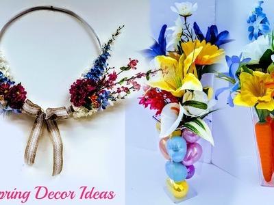 DIY Dollar Tree 3 Spring Decor Ideas EASY, FAST & Beautiful . Spring Wreath