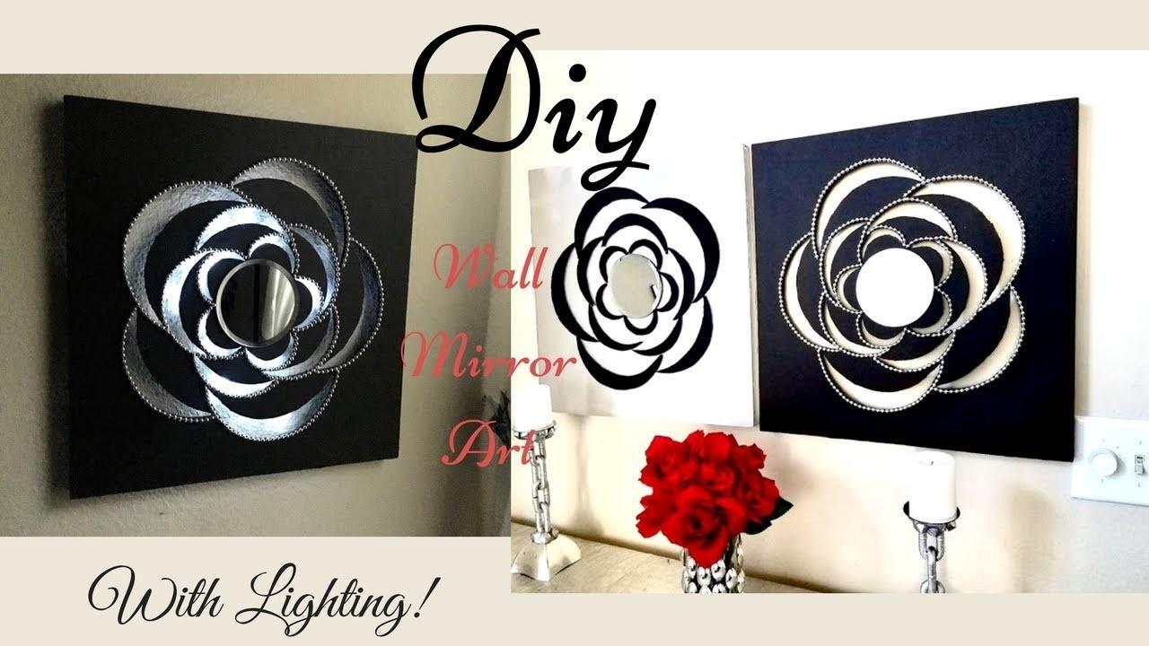 Diy Lighted Wall Mirror Art| Twin Wall Decor!