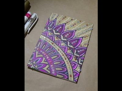 DIY  Mandala Greeting Card with Rhinestones
