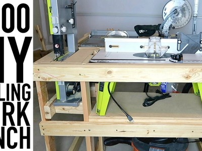 DIY ROLLING WORK BENCH FOR TOOLS UNDER $100 | GARAGE ORGANIZATION