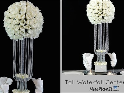 DIY Tall Waterfall Wedding  Centerpiece | DIY Wedding Decor | DIY Tutorial