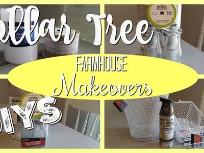 DOLLAR TREE MAKEOVERS! FARMHOUSE DIYS! 2018