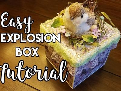 Easy Explosion Box Tutorial ~ Prima Lavender Collection