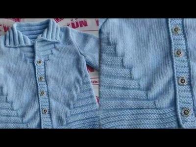 Easy Knitting for Beginners in Hindi.Steps Cardigan Design for Kids:Design-126