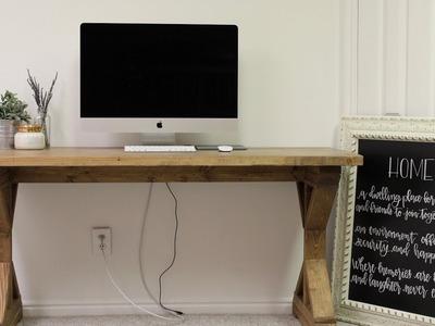 Farm House Desk Tutorial!. DIY Farm House Desk