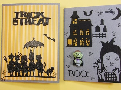 Halloween Cards w. Fun Dies, Quick and Easy Last Minute Cards