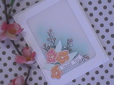 Happy Day Series. Using What's In Our Stash. Thank You Card. Hero Arts Flower Stamp & Cut
