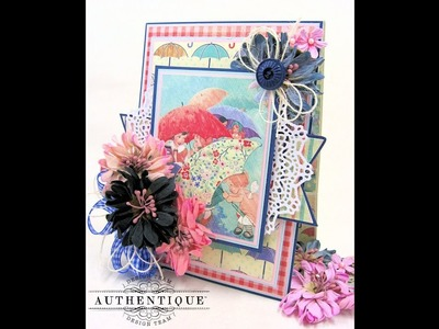 Hello, Spring Folio and Card Tutorial with Authentique Refreshed Collection  by Kathy Clement