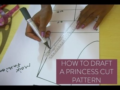 HOW TO DRAFT A PRINCESS CUT PATTERN | PRINCESS BUSTIER