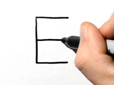 How to Draw an Elephant After Writing Letter E - LetterToons