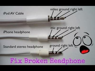 How to Fix Broken Headphone