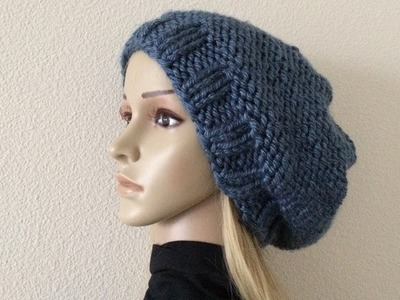 How To Knit A Unisex Hat, Lilu's Handmade Corner Video # 231