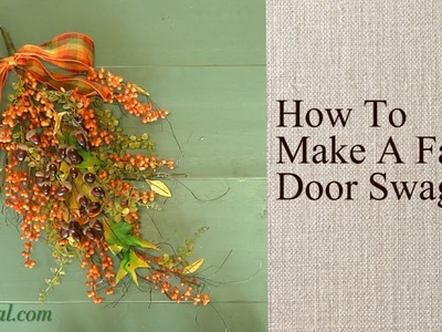 How to Make a Fall Door Swag