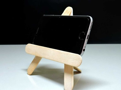How to make a mobile stand by using cream sticks   Easy & Simple  