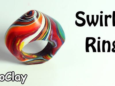 How to make a Swirl Ring - Polymer clay tutorial