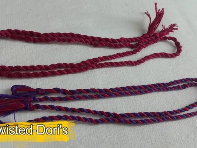 How to make double color twisted dori for designer blouses at home