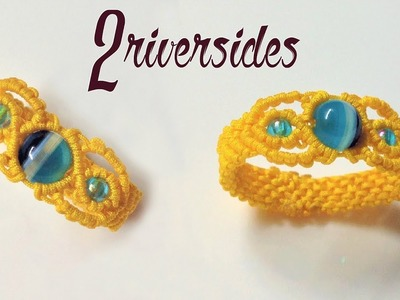 How to make macrame ring - The 2 riverside - Step by step macrame tutorial