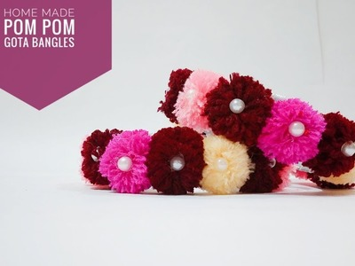 How to make pom pom bangals for navaratri in a few minutes | Art & Creativity ❤