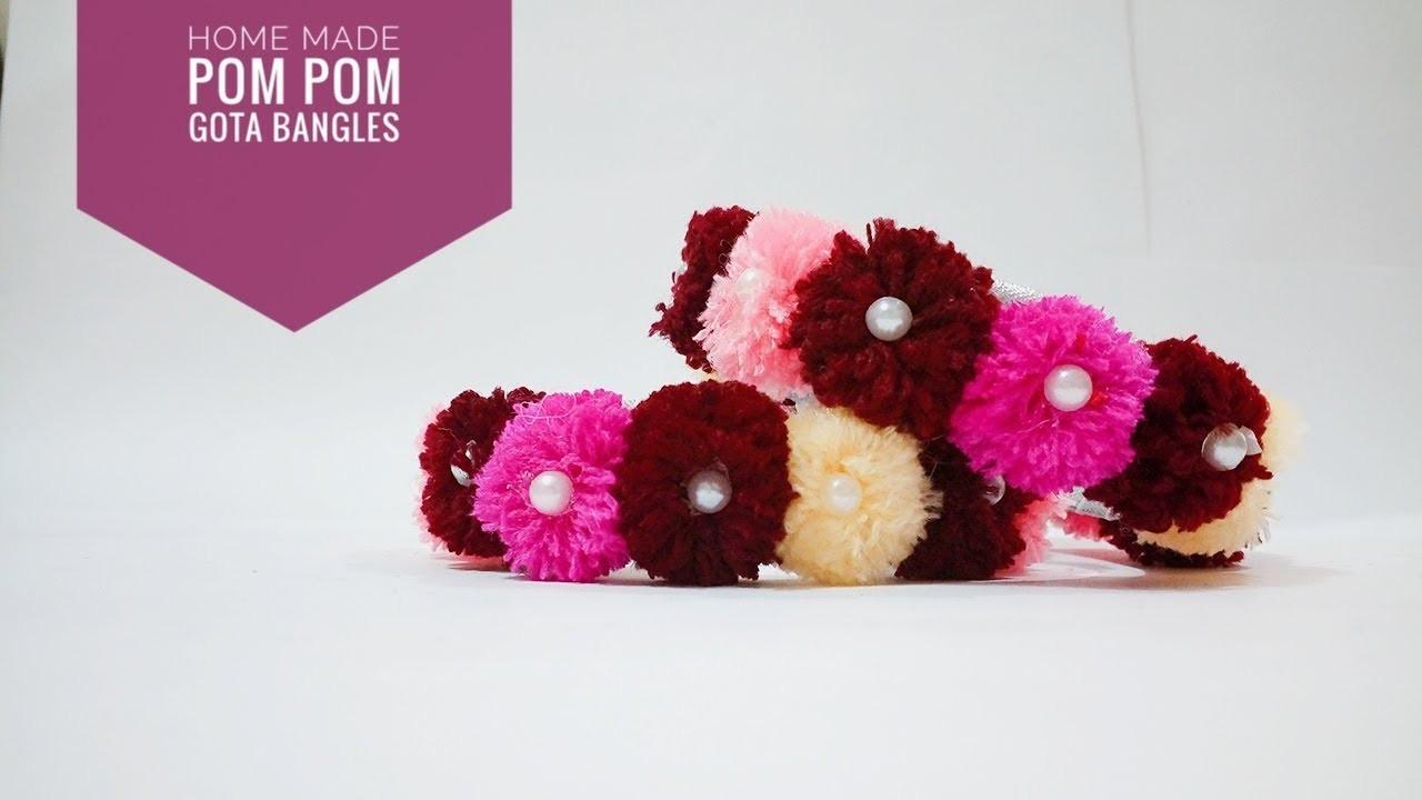 How to make pom pom bangals for navaratri in a few minutes   Art & Creativity ❤