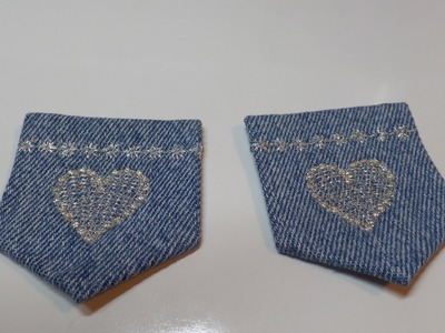 How to Make Put Designer Type Pockets on Doll Jeans Pt. 2