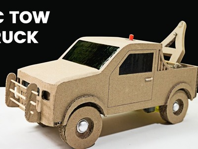 How to make Remote Control Tow Truck from Cardboard