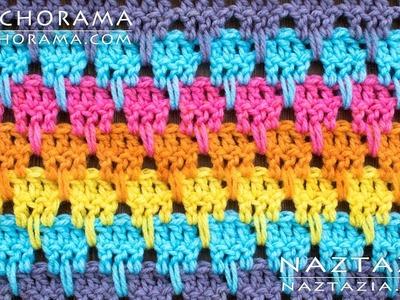 Learn How to Crochet Larksfoot Stitch Pattern - DIY Tutorial Stitchorama by Naztazia