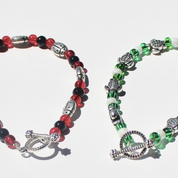 Little Girl's Turtle or Ladybug Bracelets