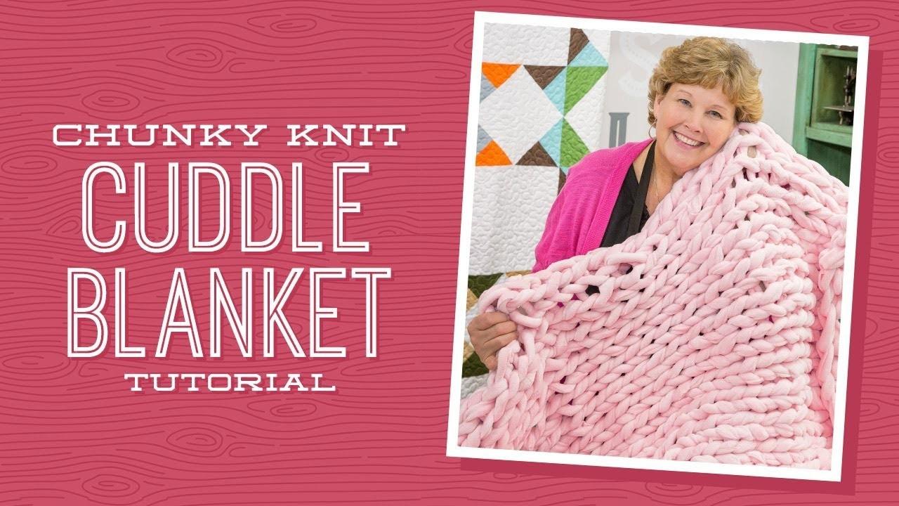 Make a Chunky Knit Cuddle Blanket with Jenny!