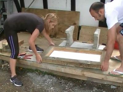Making a concrete seat. part 4: Casting